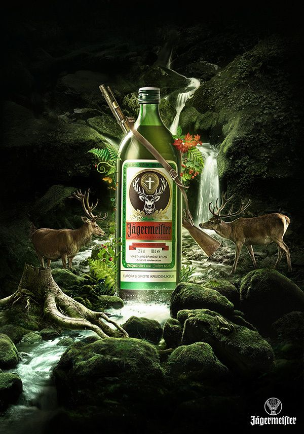 Jagermeister Key Visuals by Good Evening , via Behance