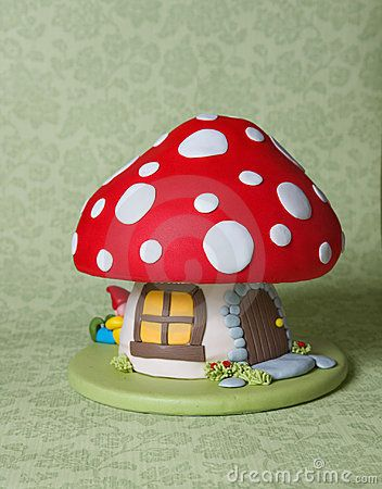 Mushroom Fantasy Cake by Martine De Graaf, via Dreamstime