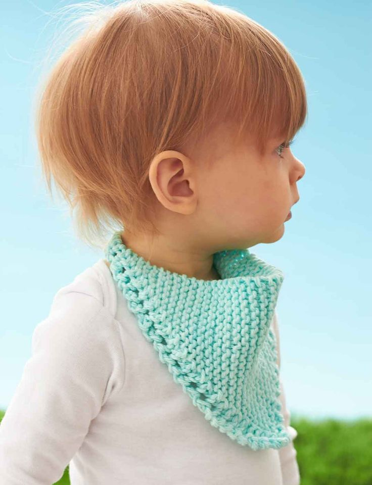 Yarnspirations.com - Lily Dribble Bib - Patterns  | Yarnspirations