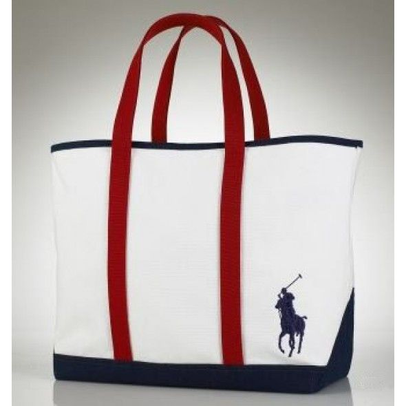 Ralph Lauren Canvas Red Pony Handbag Red take it home now, it is worth to woning.$43.57