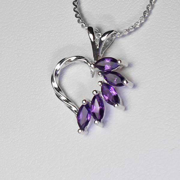 Amethyst Necklace Pendant Handmade /& Silver