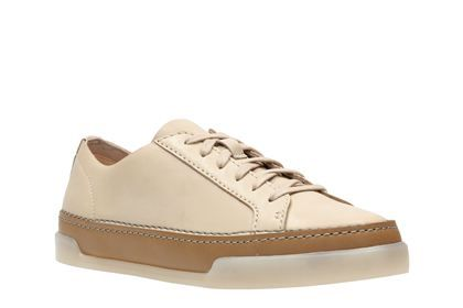 Clarks Hidi Holly, Nude Leather, Womens Sports Shoes