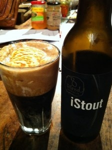 8 Wired - iStout (Imperial Stout). What you are looking at in the glass is part vanilla ice cream and part iStout, which is otherwise known as an imperial float (I think, haven't tried doing that yet but worth a go sometime). This beer was my first foray into imperial stouts (or stouts in general). Nice and rich, sweet, lovely silky feel in the mouth. Google the history on how imperial stouts came about, very interesting reading (ps. it has to do with Russians!).