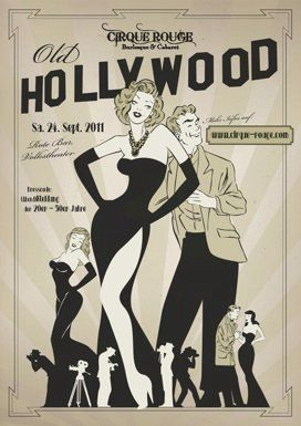 Old hollywood poster                                                                                                                                                     More