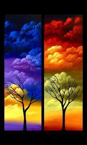 Bello contraste de colores
