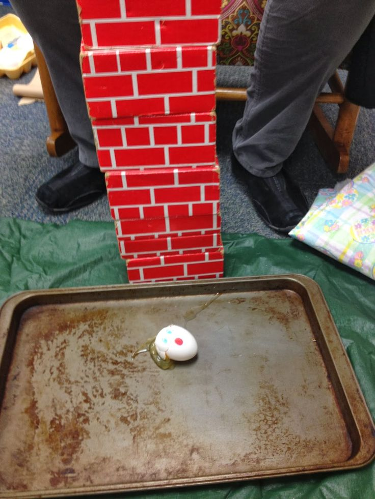 Humpty Dumpty... Science experiment, build wall with bricks (blocks) and mortar (shave cream), empathy,etc.