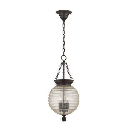 "Hudson Valley Lighting Coolidge 1 Light Globe Pendant Size: 21"" H x 10"" W, Finish: Old Bronze"