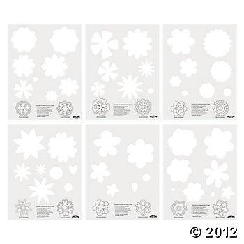 Layered Flower Templates