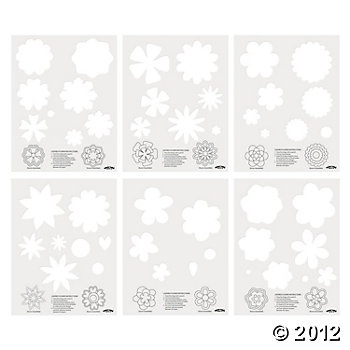 Layered Flower Templates