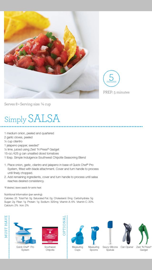 Did this: At my 1st Tupperware party :) This simply salsa was delicious. I chopped my salsa fine because that's the way I like it.