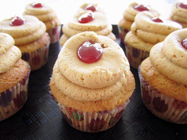 Peanut butter jelly cupcakes!Peanut Butter