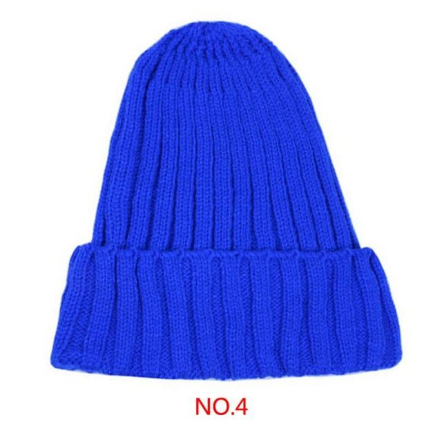 Unisex Fluorescent Colorful Autumn And Winter Warm Women Men Wool Hat Couples knitted cap pointed hats Beanies Elastic