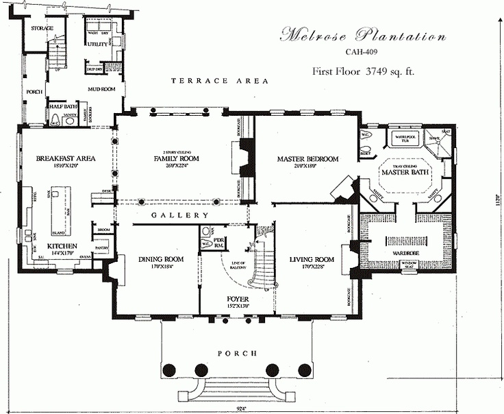 william e poole designs melrose plantation in love On melrose house plan