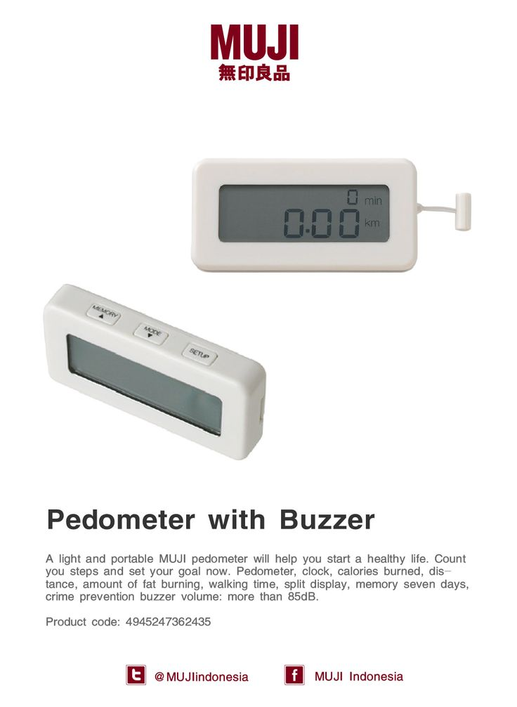 A light and portable MUJI Pedometer will help you start a healthy life. Count you steps and set your goal now.