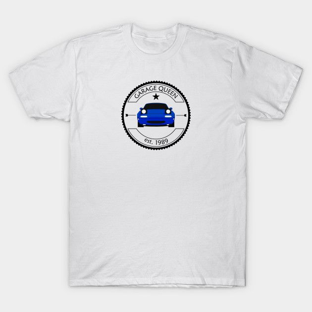 [Cars T-shirt] Mazda MX-5 / Miata NA Garage Queen Blue