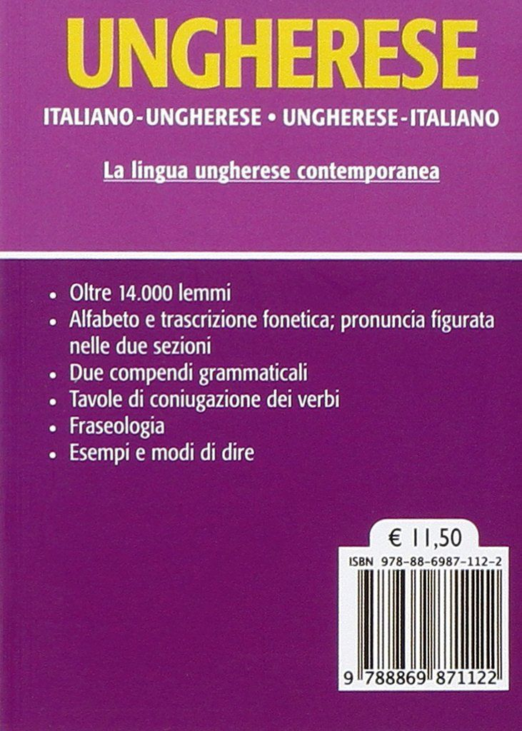 Dizionario Ungherese Italiano Ungherese Ungherese Italiano