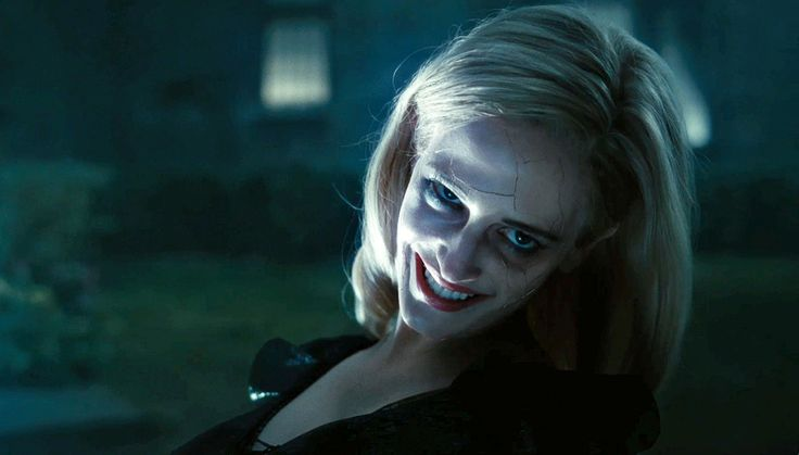 Eva Green as the evil witch Angelique Bouchard in Tim Burton's Dark Shadows