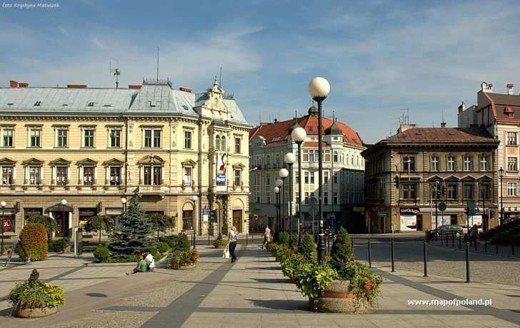 Stare kamienice na Placu Chrobrego - Bielsko-Biała