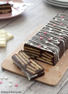 Mattonella al cioccolato e biscotti fredda, senza forno Dulcisss in forno by Leyla