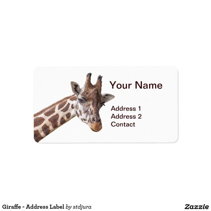 Giraffe - Address Label