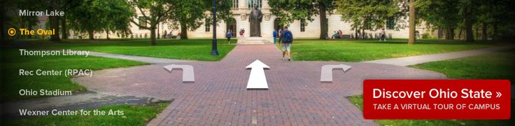 Ohio State tours offered weekly and on weekends.  2.5 hours long.