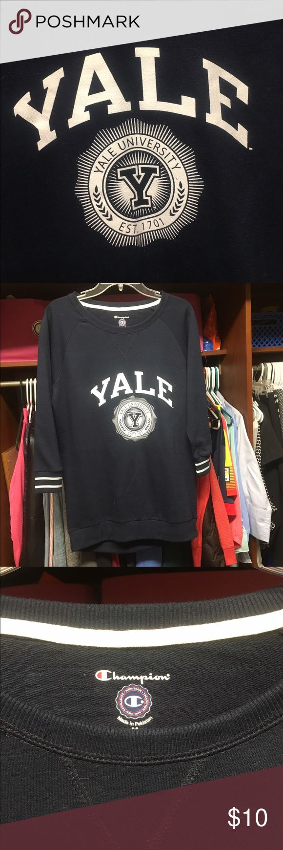 Navy Blue Yale University Top Navy Blue, S Champion Tops Blouses