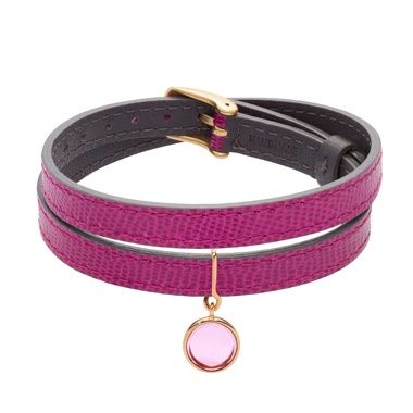 A leather bracelet with a Boheme crystal pendant? The new modern&chic by Lilou! #lillou #bracelet #leather #crystal #Boheme #modern #chic