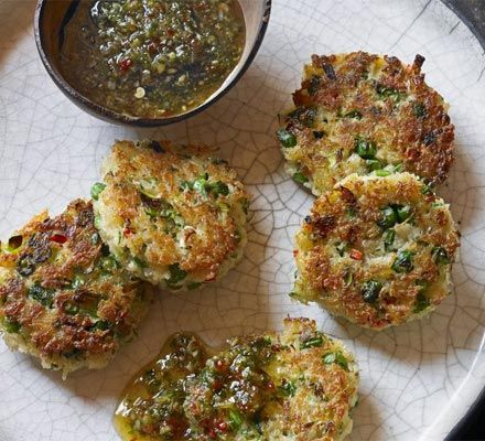 Crab Cakes With Sweet Chilli & Ginger Dipping Sauce Recipe on Yummly