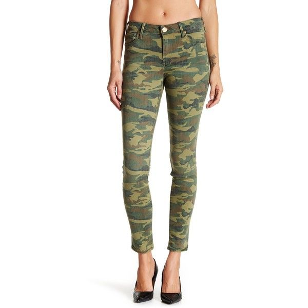 True Religion Halle Mid Rise Super Skinny Jean (£68) ❤ liked on Polyvore featuring jeans, crk distre, true religion jeans, zipper jeans, camoflage jeans, true religion and skinny jeans