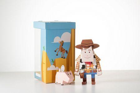 Geekstra.com'dan MOMOT Disney Paper Toyz! Toy Story - Woody