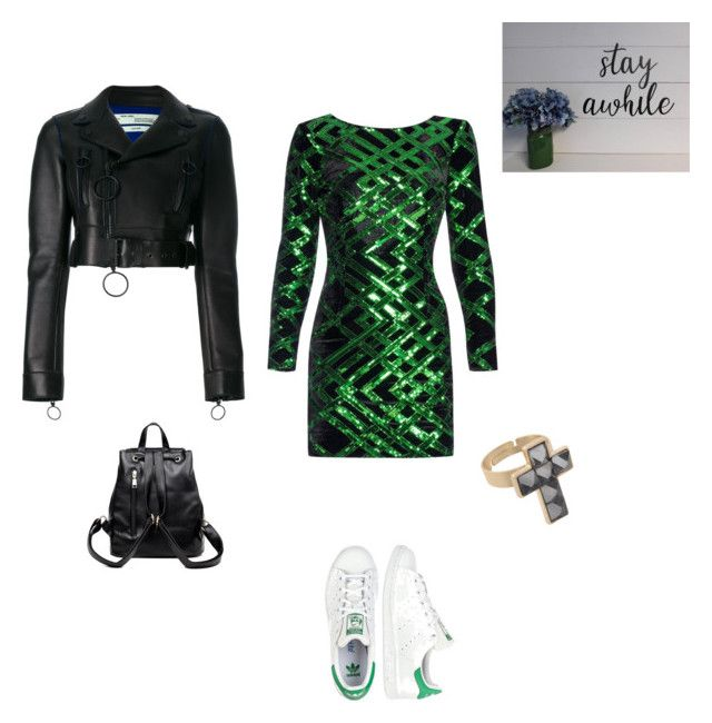 """Out of..."" by francystyling78 on Polyvore featuring moda, Off-White, Nissa Jewelry, adidas Originals e Anello"