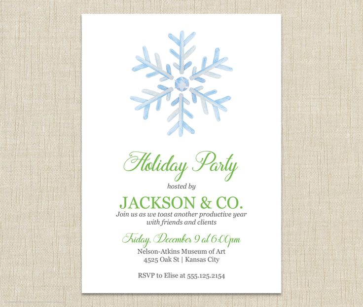14 best Corporate Christmas party invitations images on Pinterest