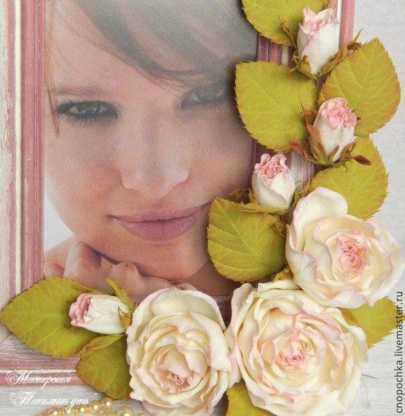 розы из фоамирана для рамки с фото все