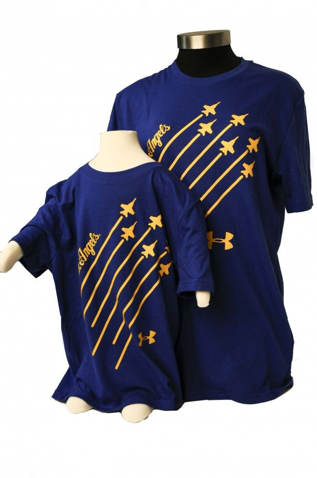 60f73470d8 UNDER ARMOUR - BLUE ANGELS KIDS Under Armour shirt featuring the ...