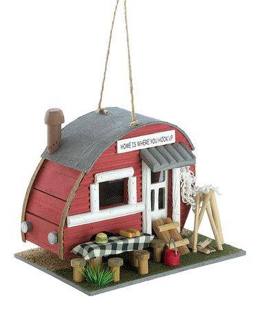 Loving this Red Trailer Birdhouse on #zulily! #zulilyfinds