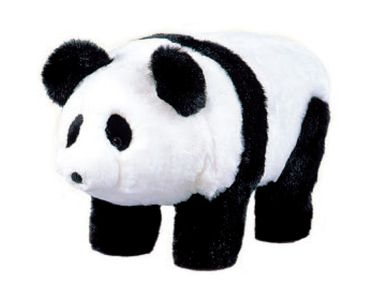 "Carstens """"Chi-Chi"""" Panda Bear Footstool"