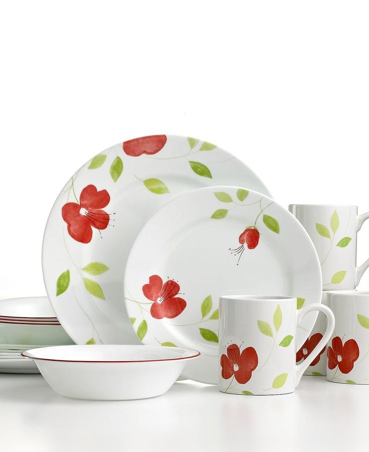 Corelle Garden Paradise Set Service for 4  sc 1 st  Pinterest & 177 best Pattern Inspiration - Florals images on Pinterest ...