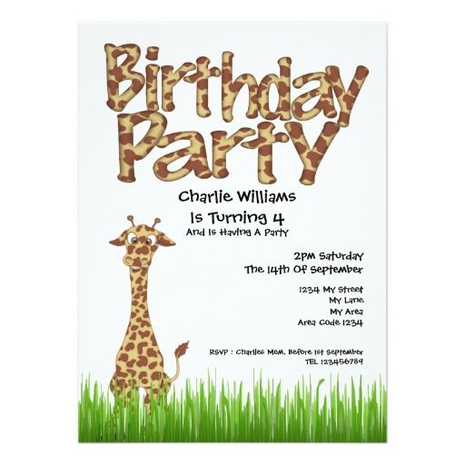 2115 best images about Birthday Invitations – Giraffe Party Invitations
