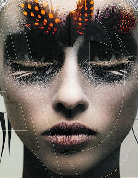 High fashion makeup. Reminds me of the Monsters and Men music video.