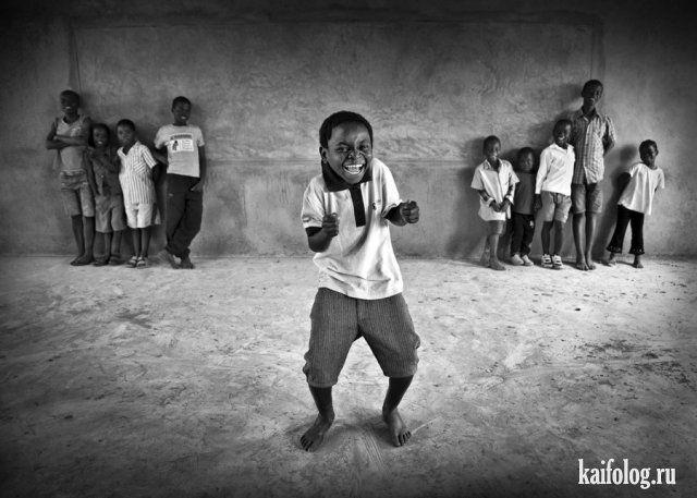 Прикольные чёрно-белые фото (45 фото)