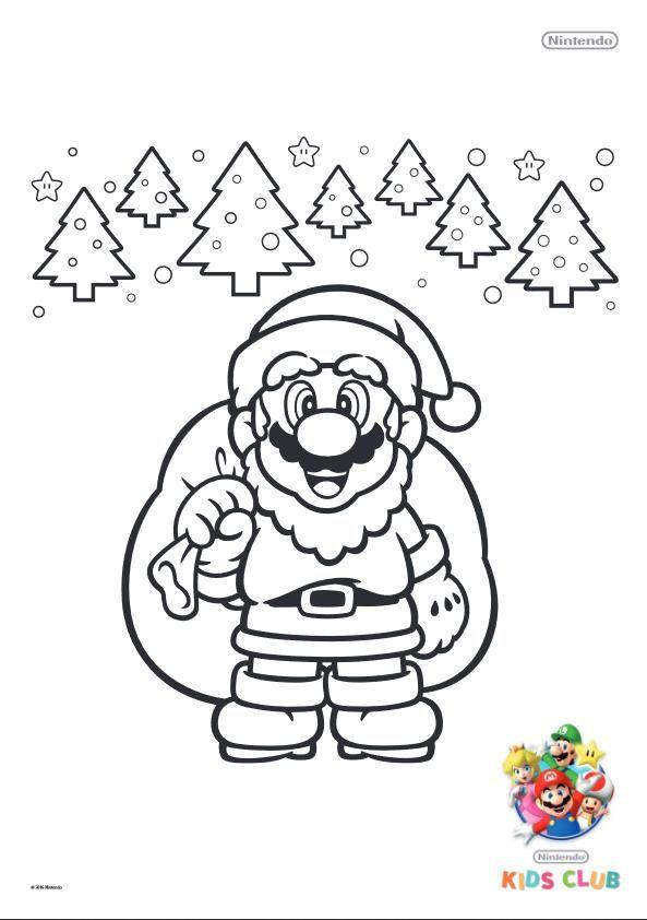 Free Printable Super Mario Christmas Coloring Pages Super Mario Coloring Pages Christmas Coloring Pages Mario Coloring Pages