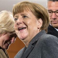 German Chancellor Angela Merkel attends meeting on refugees (20160408)