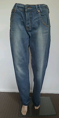 Vintage Energie jeans Womens distressed Blue Denim Jeans made in Italy