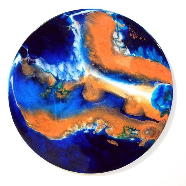 "  Deliverer   2016   Resin   40cm   2 Samuel 22:2   ""The LORD is my rock and my fortress and my deliverer."" #word #scripture #scriptureart #christian #christianart #resin #resinart #resinartist #fluidpainting #fluidart #fluidartist #roundart #abstract #abstractart #abstractartwork #modern #modernart #artlife #art #artwork #trending #interior #interiorart #goingtosouthafrica #deliverer #fortress #rock #allfortheprocess #crownedforgloryart"