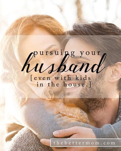 Are you pursuing your husband? Does he know you desire him? It might make us blush, but finding ways to initiate love and affection, even during seasons with kids in the house is essential to a healthy marriage. Here are three ways you can pursue love today!
