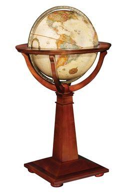 Logan 16-inch Antique Ocean Floor Standing Globe