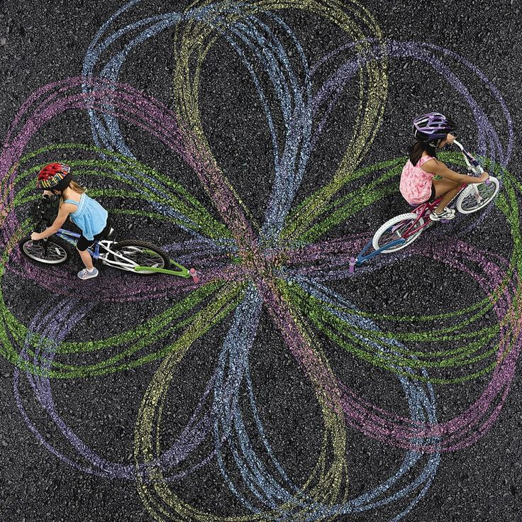 With a Bike Chalk Trail Kit, you can make yourself into a giant spirograph.