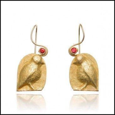 Linda Kindler Priest - Partridge Earrings