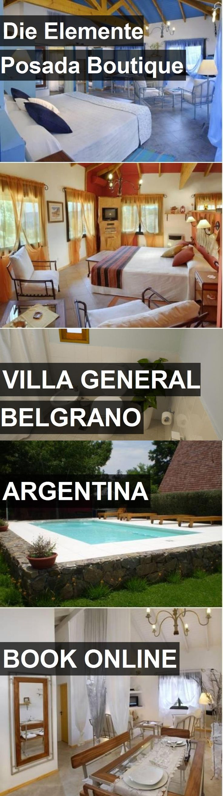 Hotel Die Elemente Posada Boutique in Villa General Belgrano, Argentina. For more information, photos, reviews and best prices please follow the link. #Argentina #VillaGeneralBelgrano #travel #vacation #hotel