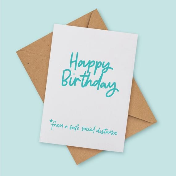 Social Distance Birthday A6 Greetings Card Free Uk Etsy I Miss You Card Dad Birthday Card Funny Birthday Cards
